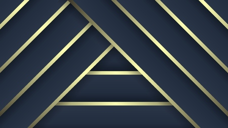 Luxury patterns. Dark blue and gold gradient colors, vector abstract background. Stock Illustratie