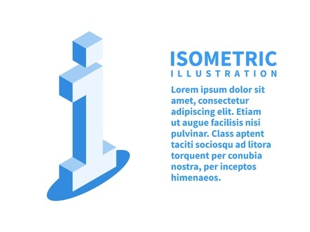 Information icon. Isometric template in flat 3D style. Vector illustration.