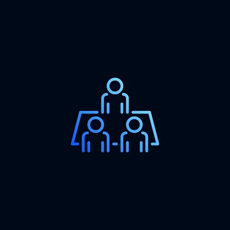 Business meeting line icon. Vector illustration in linear style