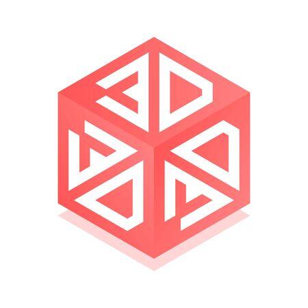 3D icon, 3D Isometric Symbol. Vector illustration Stock Illustratie
