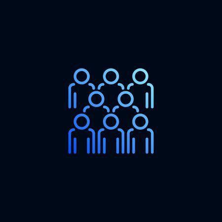 Group of people line icon. Vector illustration in linear style Stock Illustratie