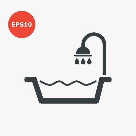Bath icon. Vector illustration in flat style
