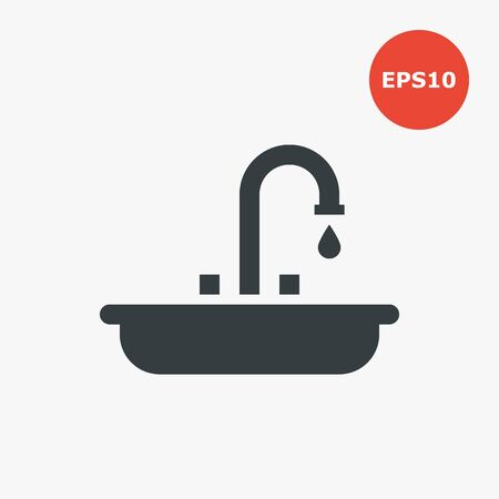 Sink icon. Vector illustration in flat style