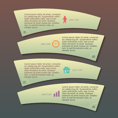 beautyful: Modern Design infographic style template on beautyful with numbered 3d effect shape. Vector illustration EPS 10 for new product newsletters, web banners, pages presentation