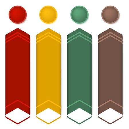 slideshow: Vector illustration for business presentation template. Design slide for industrial infographics, numbered banners, charts and graphs background, slideshow, graphs and tables or website. Illustration