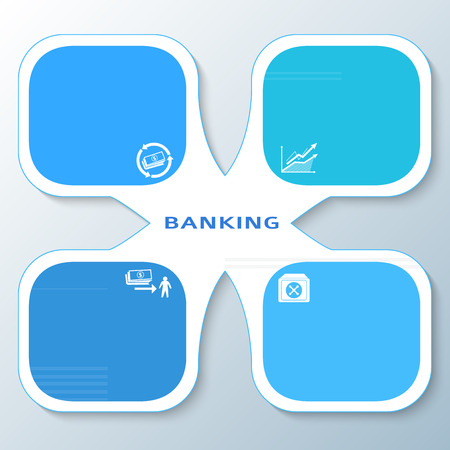 family policy: Modern Design style infographic template. Illustration of different kinds of banking. Can be used for infographics and typography, chart process the bank, business service steps options