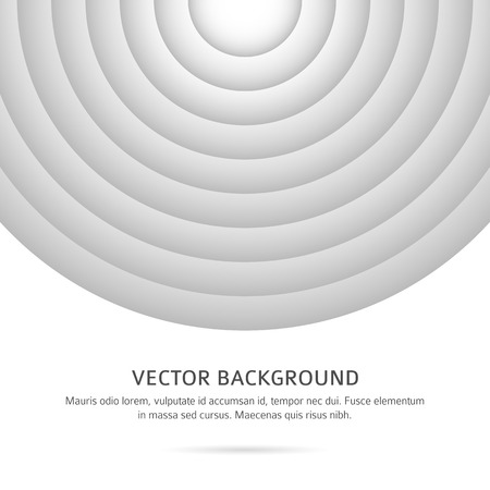 phosphorescence: Abstract Silver background. Retro Design element monochromatic circle optical illusion with space place for your text. Vector illustration for business presentation template Illustration