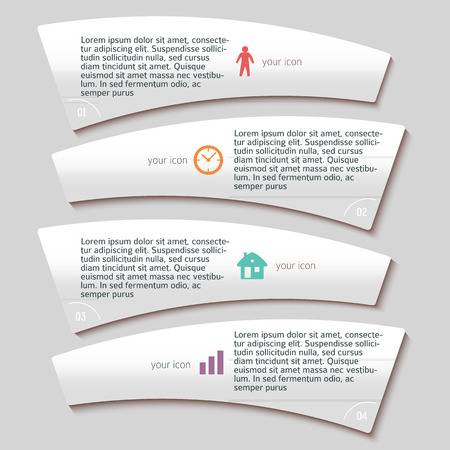Design business presentation template. Vector illustration for technology infographics  number banners  charts and graphs or  background graphs and tables. Vector