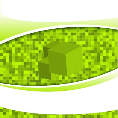 tecnologia virtual: La tecnolog�a Virtual fondo verde abstracto elemento de dise�o. Ilustraci�n del vector.