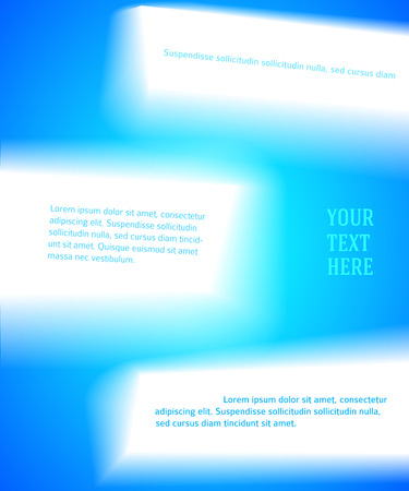 Blue abstract glowing light background wish space for text. Vector illustration. Theme of summer, nature, healthy living, travel, fitness for flyer, presentation template, advertising booklet