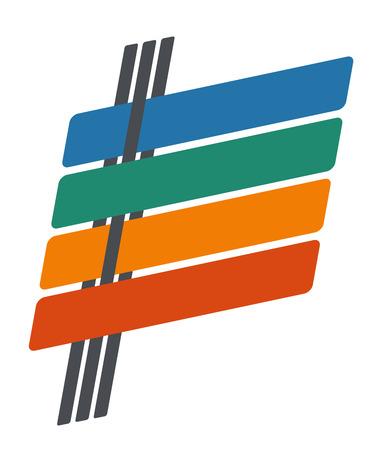 slanted: Modernos elementos de dise�o de infograf�as estilo inclinado l�neas con sombras sobre fondo blanco. Resumen forma. Ilustraci�n vectorial eps 10 se puede utilizar para el diagrama de flujo de trabajo, dise�o de p�ginas web, las opciones de n�mero de la bandera Vectores