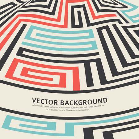Abstract vector background design with maze texture and place for your text isolated. Good cover for a book on psychology, creative problem solving, logical thinking, the study of human relations Vector
