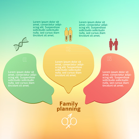 demography: Birth control abstract medical background - concept healthcare or demography. Illustration
