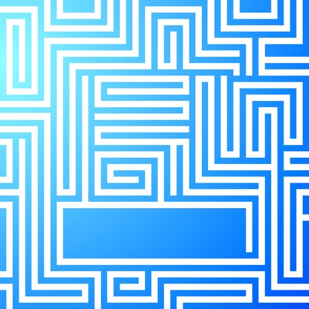 difficult decision: Labyrinth texture and place for your text isolated on blue light background. Abstract vector illustration EPS 10. Concept business maze & solving a problem and finding the best creative solution Illustration