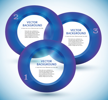3d ring: Modern Design infographic style template on blue gradient background with numbered 3d ring.