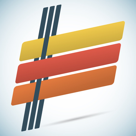 slanted: Elementos de dise�o de infograf�as estilo retro inclinadas l�neas con sombras. Vectores