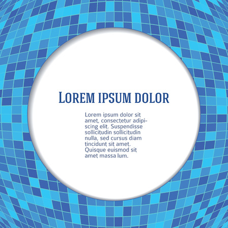 checkered volume: Modern geometrical blue abstract background template. Vector illustration Eps 10. Mosaic layout for kitchen or spa & bathroom product, of bright glowing squares. Gorgeous graphic image backgrounds Illustration