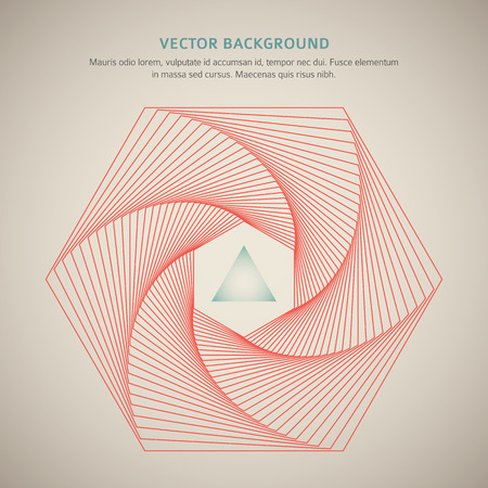 Futuristic background with hexagon and triangle with space for your message. Vector