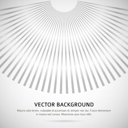 page down: Grey background with rays lines down with space for your message. Gorgeous graphic image template for design presentation, brochure layout page, cover book or magazine Illustration