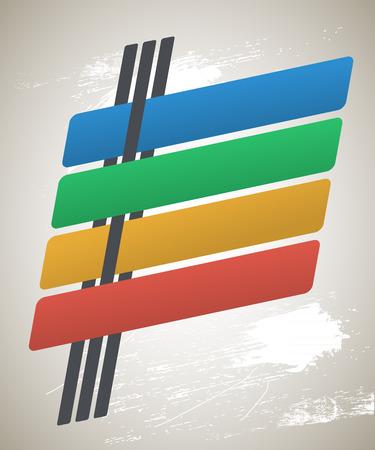 slanted: Elementos de dise�o de infograf�as estilo retro inclinadas l�neas con las sombras en el fondo del grunge de la vendimia y la textura sucia. Resumen forma. Ilustraci�n vectorial eps 10