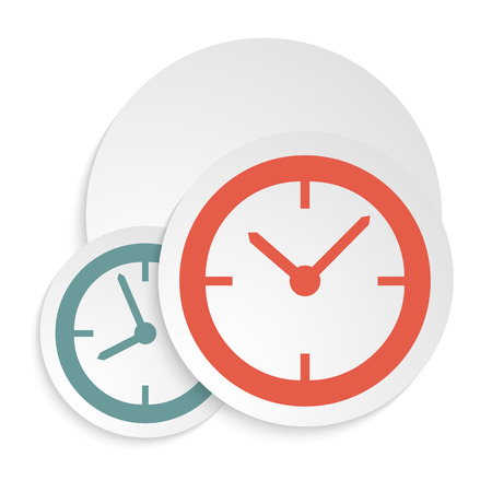 reloj: El cartel concepto de reloj o libro de tapa. Elegante reloj redondo (dial). Icons Set - - aislada sobre fondo blanco. Ilustraci�n del vector EPS 10, Dise�o Gr�fico editable para su dise�o. Reloj Logo