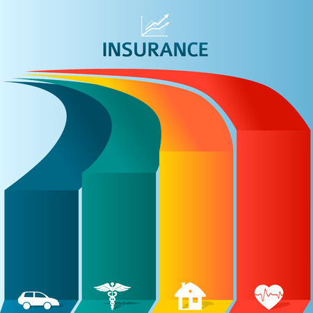 auto insurance: Vector insurance style infographic template: home insurance,auto insurance, life insurance, business risk insurance. Can be used for chart process the insurance company, business service steps options