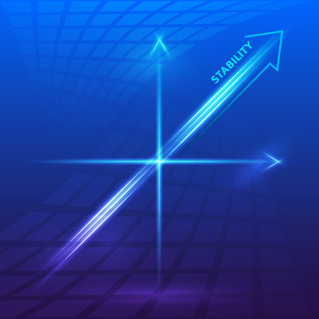 compulsory: Insurance - Business Background  Vector illustration of financial chart, blue tones and blur effect, bright glow