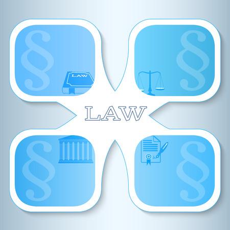 fermo: Moderno stile di design infografica per Legal & studio legale. Illustrazione vettoriale eps 10. Pu� essere usato per la presentazione aziendale o modello di brochure ufficio della giustizia, societ� notaio, avvocato biglietto da visita