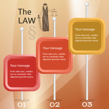 notary: Modern design style infographic for Legal & law firm. Vector illustration eps 10. Can be used for business presentation or brochure template the justice office, notary company, business card lawyer Illustration