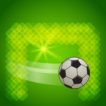 field goal: Soccer ball on the field, goal. Vector image EPS 10 for flyer design perfect for tailgate parties, football invites, flyer sports products, cover page magazine, etc. File contains transparencies