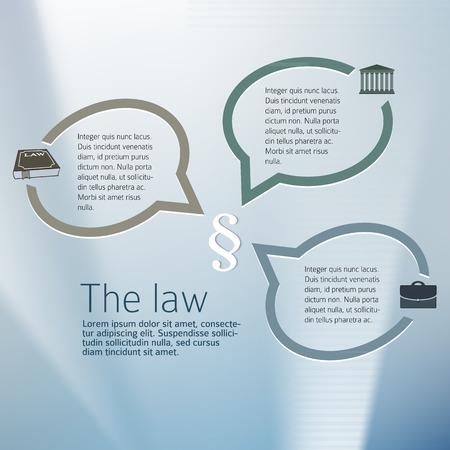 fermo: Design elementi di sfondo per Legal & studio legale. Argento sfocatura bagliore con il diritto legale segno e parlare bolla. Vettoriali