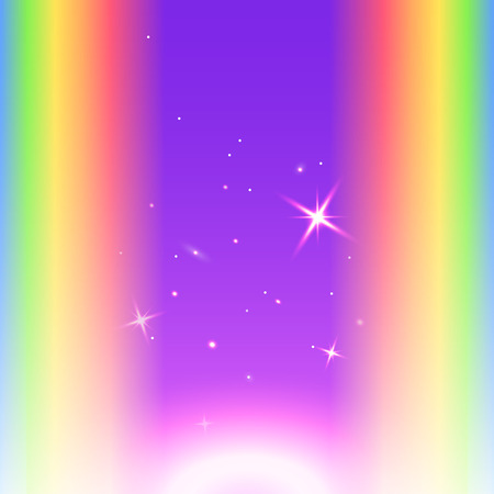 Rainbow template background. Color gradient. Violet, purple middle. Vector illustration   Futuristic northern lights style night glow neon disco club or night party Vector
