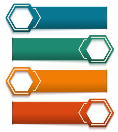 numeros: Número colorido Opciones Banner y postal  Vector ilustración  se puede utilizar para la infografía  banners numerados  gestión de procesos de vectores  negocio gráfico o diseño web