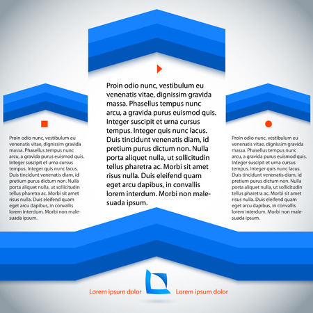 page layout: Abstract arrow background blue lines. Vector illustration, use for business workflow layout, web design, booklet cover, banner template, page magazine, advertising brochure design elements, etc