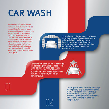 auto service: Auto service & car wash background with icons design elements. Modern business presentation template for car-wash flyer.