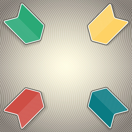mapa de procesos: Colorido resumen de antecedentes de flecha y plantilla de presentaci�n  flecha logo  infograf�a portada de la revista  sitio web dise�o gr�fico  mapa de procesos de negocio Vectores