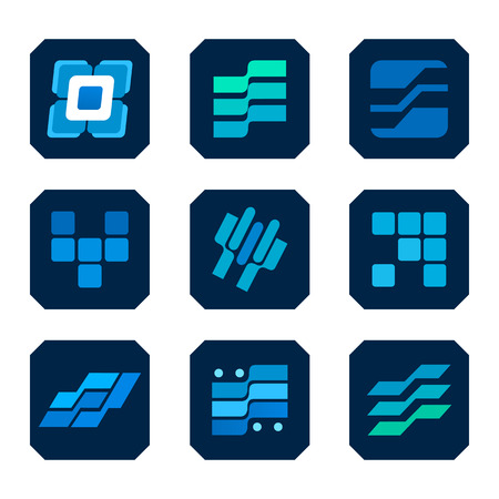 information technology industry: Icon set information technology, industry icon. Illustration