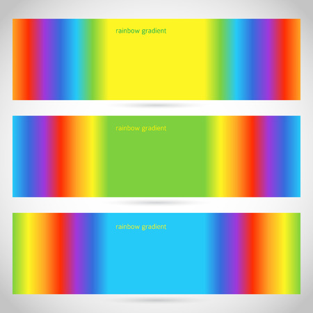 rainbow slide: Design elements business presentation template. Vector illustration web banners horizontal  charts and graphs and tables on rainbow gradient background. EPS 10