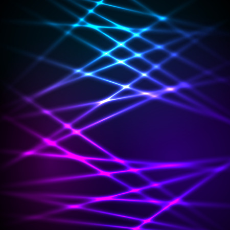 Fashion lights background of bright glowing blur lines. Vector illustration Eps 10. Futuristic style glow neon disco club or night party. Gorgeous graphic image template
