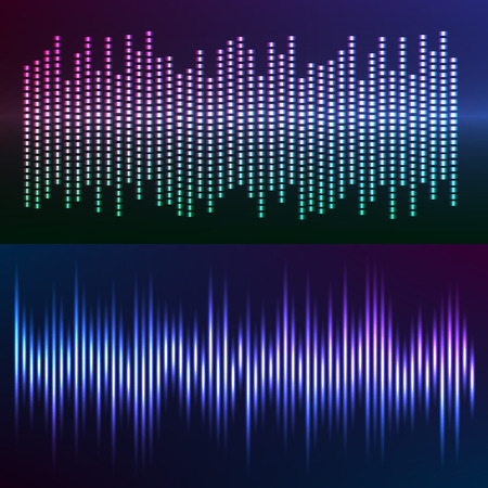 graphic equalizer: Sound waves vector abstract - graphic equalizer vector background for different joyful events. Illustration