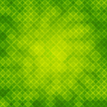 roundish: Green geometric abstract background template. The light in the center. Green, emerald roundish rhomb. Illustration