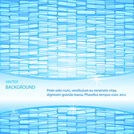 Abstract medical, chemical background. Being shone particles. Blue background, template.