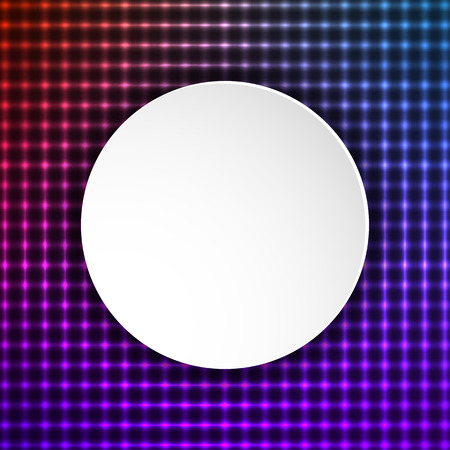 geometric style: Modern Design geometric style template on circle background with space place for your text. Illustration