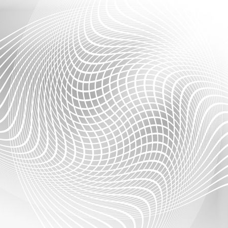 deformation: Modern geometrical grey background of bright glowing perspective with deformation squares. Gorgeous graphic image template. Abstract vector Illustration for your business brochure