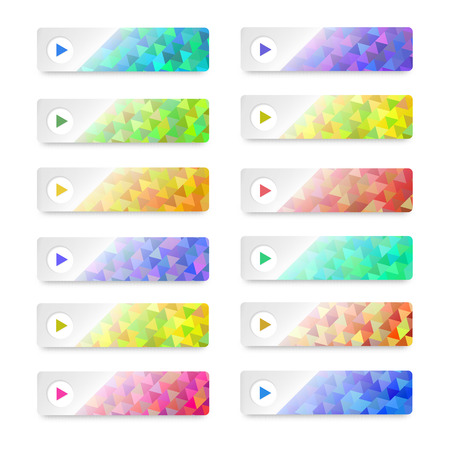 Modern style set Design element website banners horizontal. Vector Illustration . Can be used for chart process the financial company, web buttons template, web site page presentation Vector