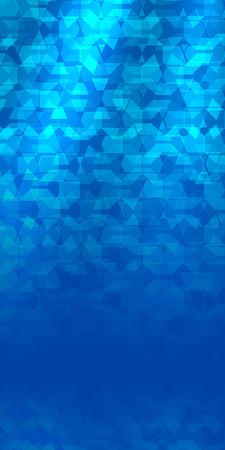newsletter: Advertisement flyer design elements. Mesh blue background with elegant graphic mosaic bright light. Vector illustration for template brochure, layout leaflet, newsletters