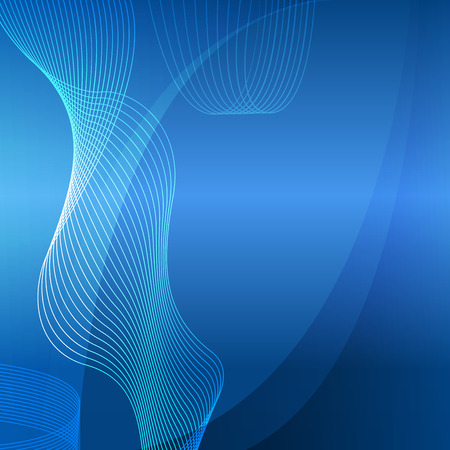 dancefloor: Modern Design graph style template on blue background with curved line elegant spatial resolution light glowing. Vector illustration for new product newsletters, web banners, pages presentation