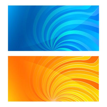 umschwung: Stellen Sie Visitenkarte leere Vorlage. Swirl Hintergrund mit eleganten grafischen Twisted Umkehr hellen Lichtstrahlen von der Stern. Vektor-Illustration. Modernes Design-Layout-Seite f�r Gesch�ftsbrosch�re Illustration