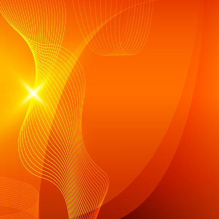 banners web: Modern Design graph style template orange background with curved lines elegant spatial resolution light glowing. Vector illustration for new product newsletters, web banners, pages presentation