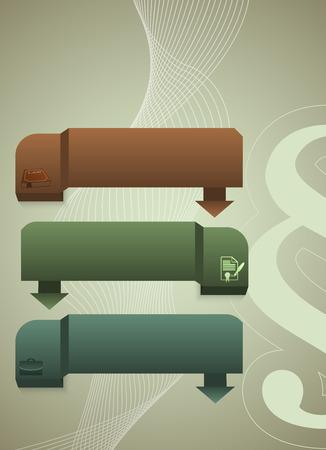 fermo: Moderno stile di design infografica per Legal & studio legale. Illustrazione vettoriale. Pu� essere usato per la presentazione di affari o brochure template ufficio giustizia, societ� notaio, avvocato biglietto da visita